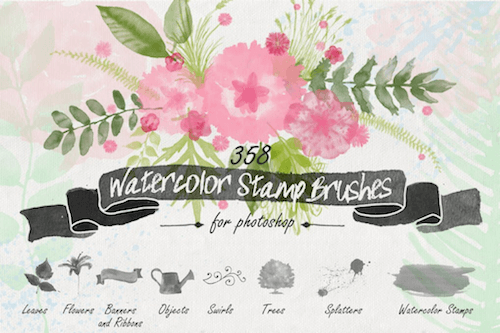 Watercolor Stamp brushes