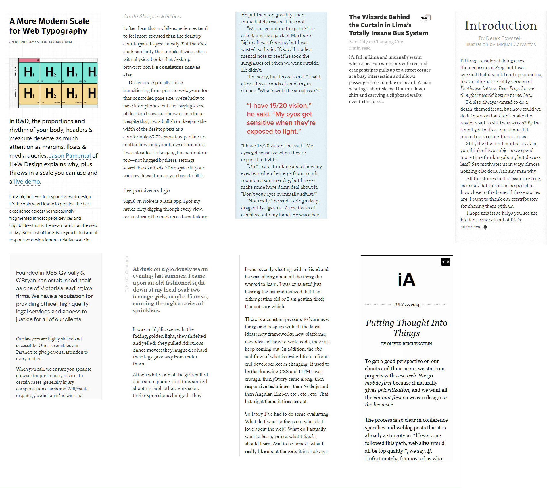 Typographic Patterns In HTML Email Newsletter Design
