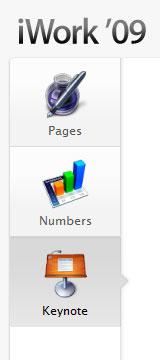 Apply iwork module tabs screen shot.