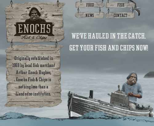 Screenshot of Enoch's Fish and Chips at 2 columns