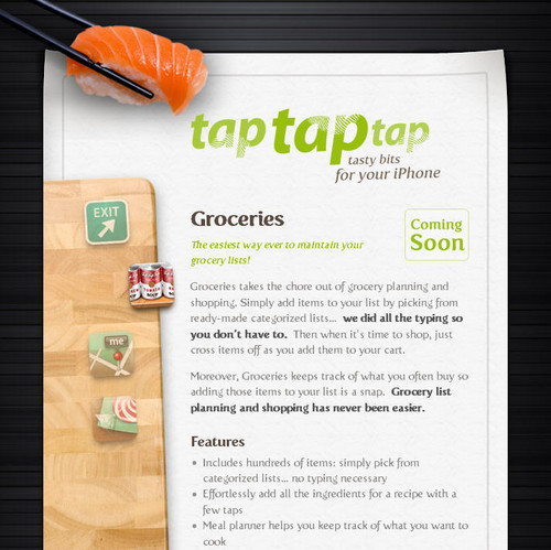 Showcase of Unusual Layouts - tap tap tap ~ Groceries