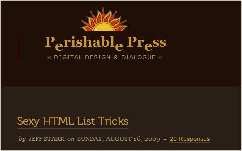 Sexy HTML List Tricks