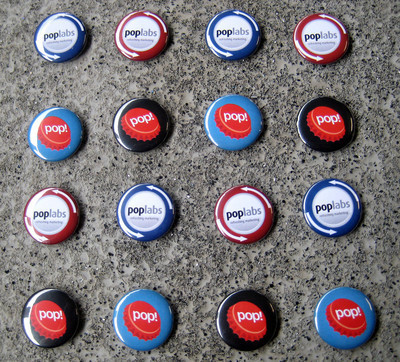 Pins, Badges and Buttons - New Pop Labs Buttons