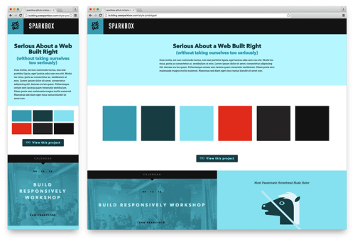 Style Prototype for the second Sparkbox site.