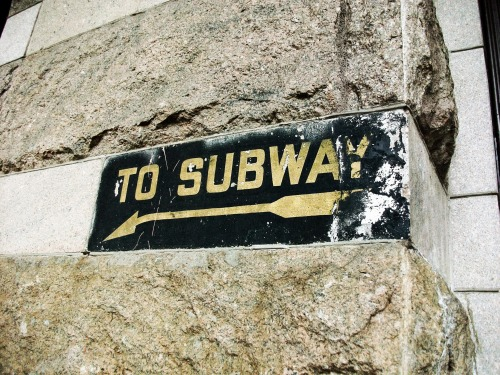 Wayfinding and Typographic Signs - subway-scratch-off