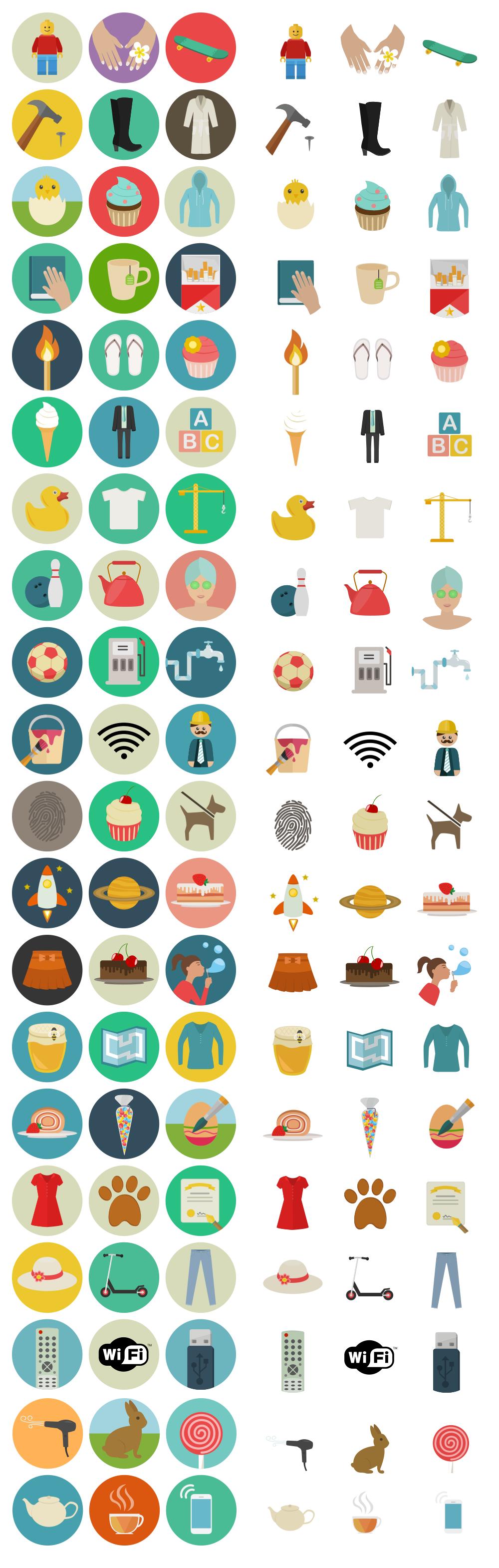 60 astonishing flat icons for free smashing magazine