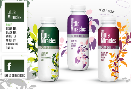 Typeface and design of Little Miracles.