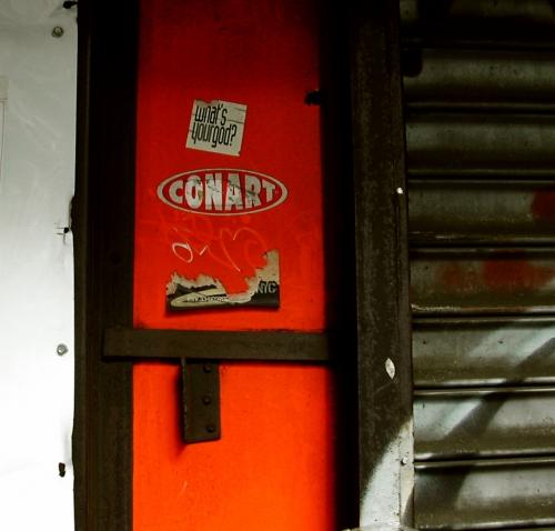 Wayfinding and Typographic Signs - old-storefront-door