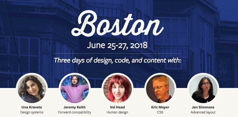 An Event Apart Boston 2018