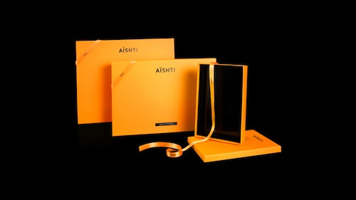 Identity and packaging design for Aishti, Aizone, and Minis department stores.