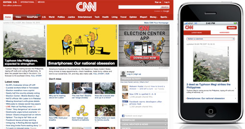 CNN Standard Site vs. Mobile