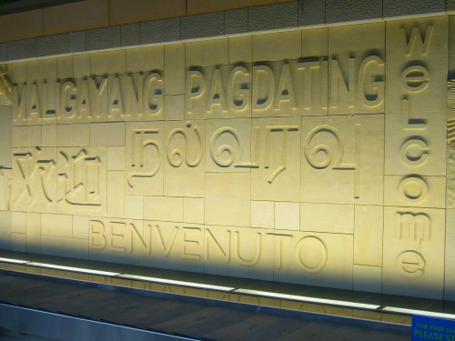 Wayfinding and Typographic Signs - terminal-baggage-claim