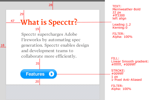 The Specctr panel.