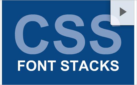 CSS font stacks