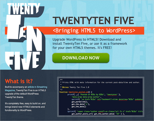 TwentyTen With HTML5