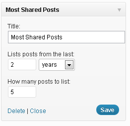 Most Shared Posts