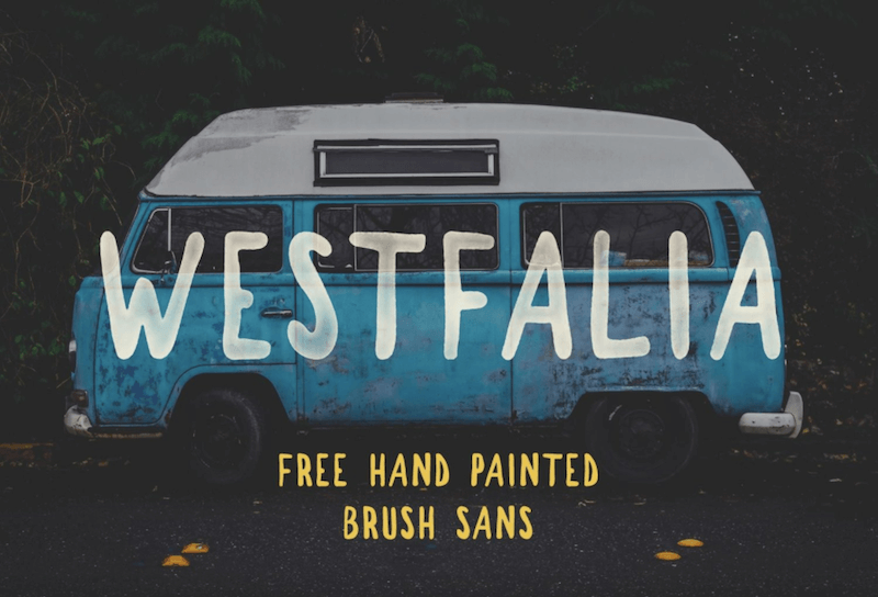 free fonts - Westfalia