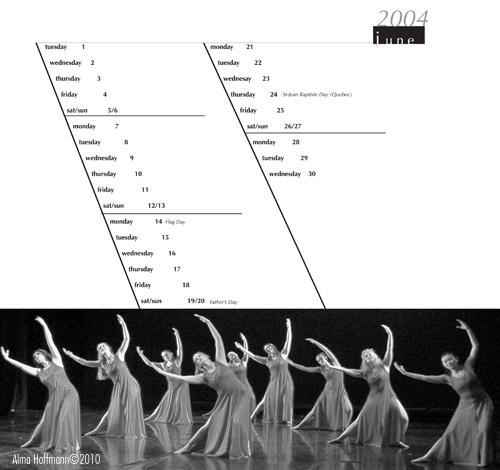 Dance calendar 2004 Alma Hoffmann, ©2010