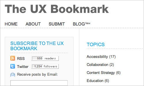 The UX Bookmark