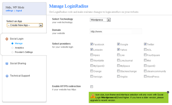 Setting Up LoginRadius