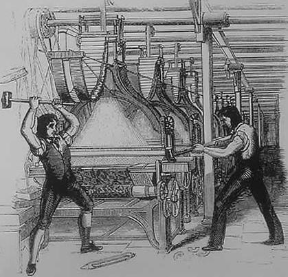 Luddites, frame breaking