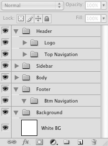 Organize Photoshop layers into folders
