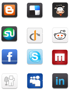 Free High Quality Icon Sets - Gorgeous Mini Social Networking Icon set
