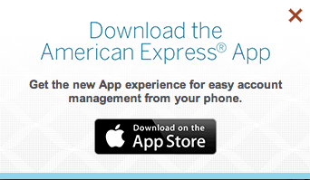 American Express' home page