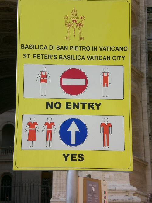 Wayfinding and Typographic Signs - st.-peters-basilica
