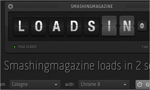 loads.in - test how fast a webpage loads in a real browser from over 50 locations worldwide