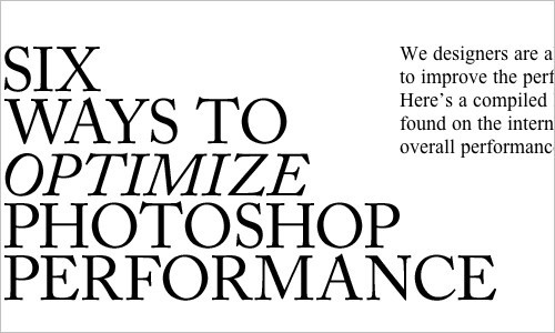 Photoshoptimize - Optimize Photoshop Performance