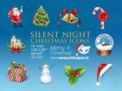 Free High Quality Icon Sets - Silent Night Christmas icons by LazyCrazy on deviantART