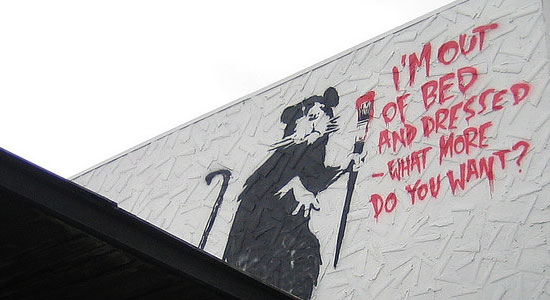 Banksy art.