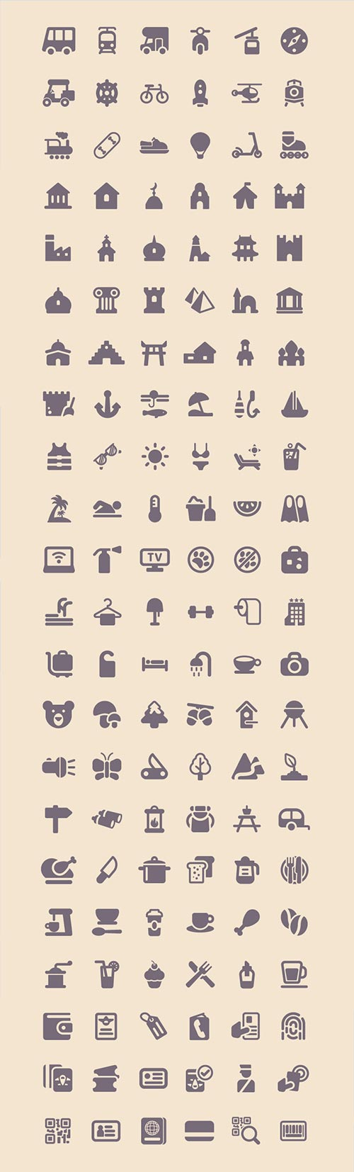 Travel Icons Full Preview