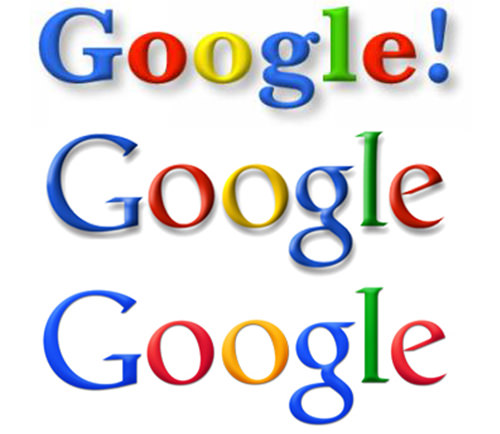 Google Logo Changes in the early days