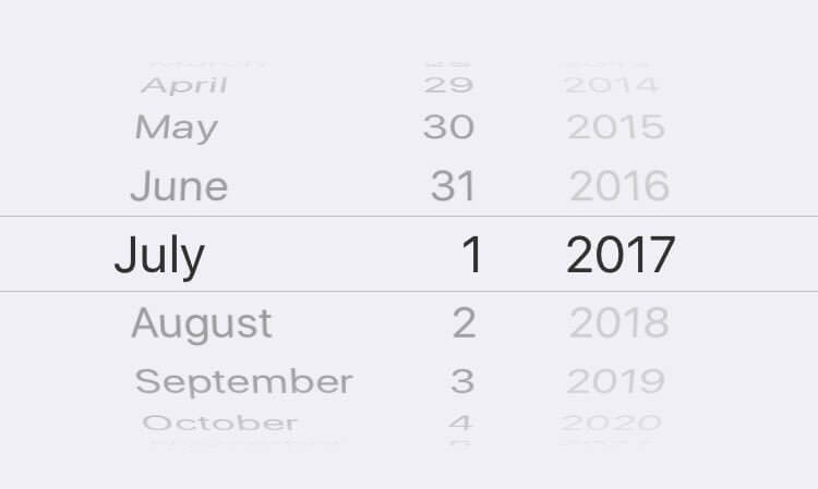 Native iOS Date Picker