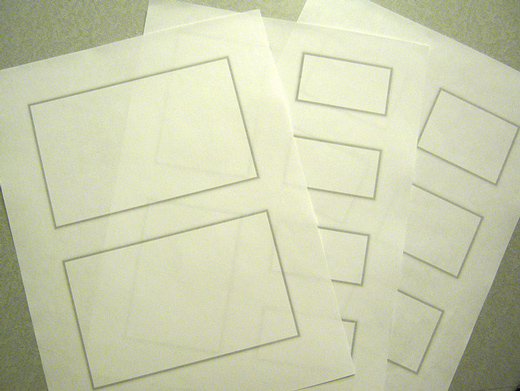 Paper wireframe templates