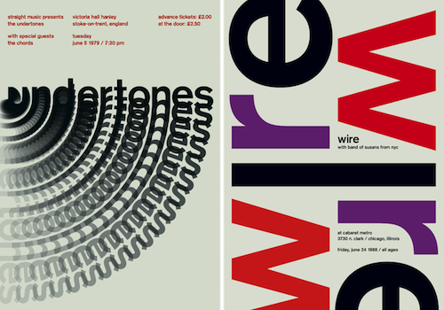 Two Swiss style music posters