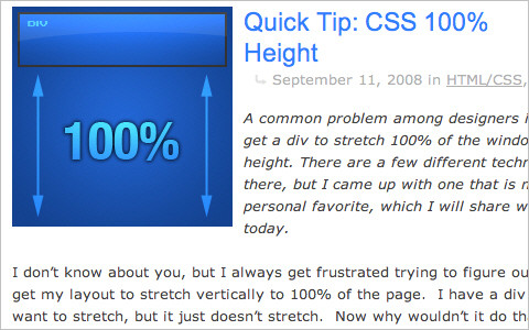 CSS 100% Height