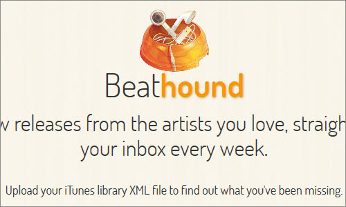 Beathound: iTunes new releases for your library
