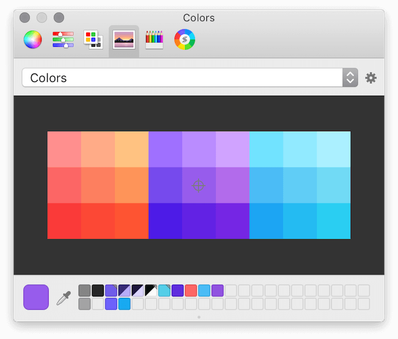 The macOS color picker