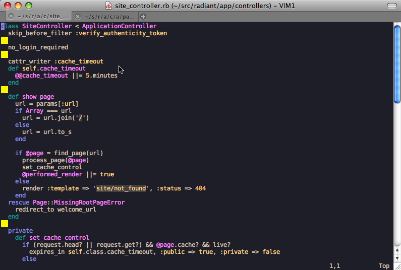 MacVim screenshot