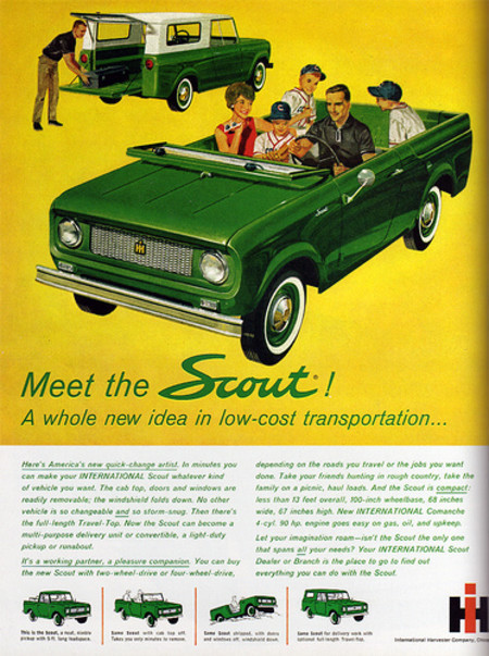 Vintage and Retro - 1960's Advertising - Magazine Ad - Scout (USA)