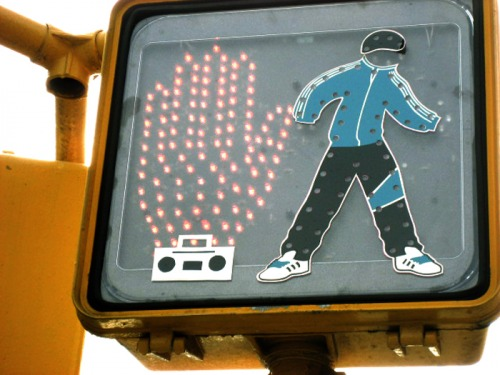 Wayfinding and Typographic Signs - breakdance-dont-walk