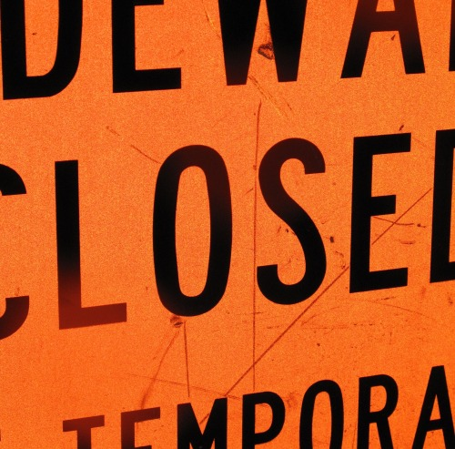 Wayfinding and Typographic Signs - closed-temporarily