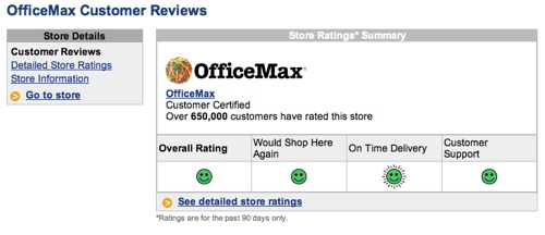 Customer review of OfficeMax