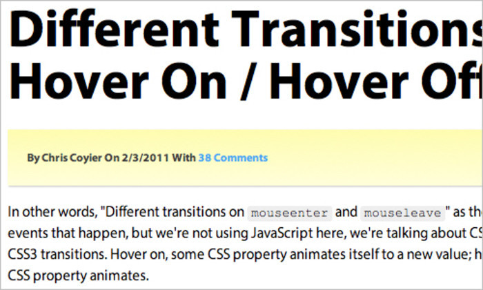 Different Transitions for Hover On / Hover Off