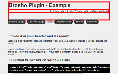 Brosho 'Design in the Browser' jQuery Plugin