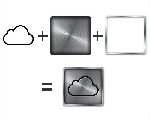 Brushed Metal iCloud Logo (tutorial)