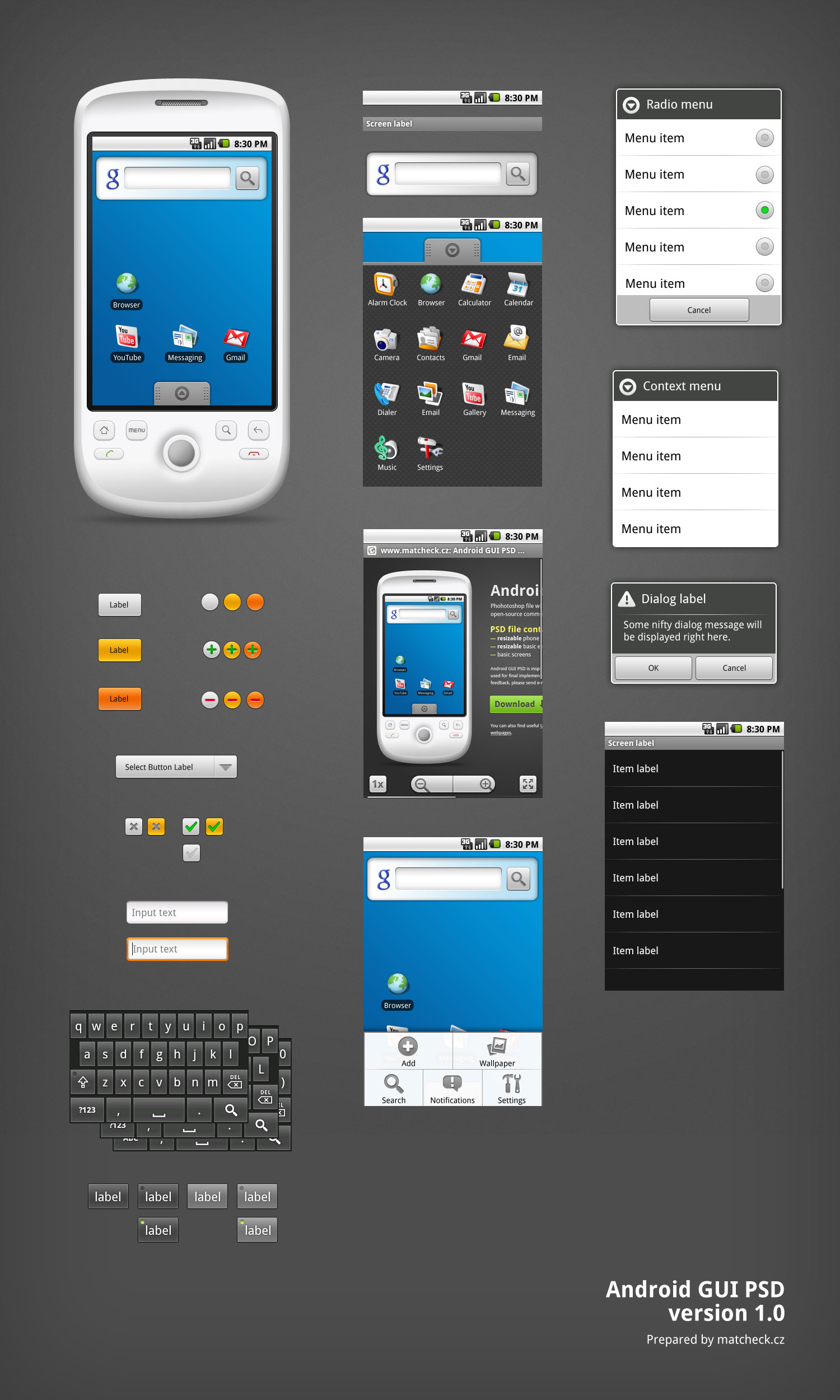 Android gui psd vector kit smashing magazine android gui psd maxwellsz